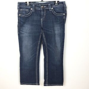 Silver Aiko Capri Jeans W30